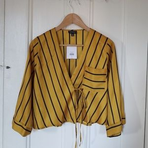 Topshop Tie Wrap Blouse new w/tags